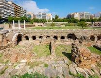 Thessaloniki Roman Forum. Macedonia, Greece royalty free stock photos