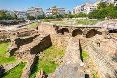 Thessaloniki Roman Forum Makedonien Grekland royaltyfri fotografi