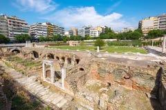 Thessaloniki Roman Forum Makedonien Grekland arkivfoton