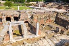 Thessaloniki Roman Forum Makedonien Grekland royaltyfri bild