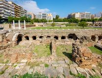 Thessaloniki Roman Forum Makedonien Grekland royaltyfria foton