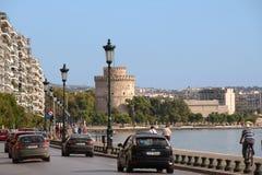 Thessaloniki ` s kade en Witte Toren Stock Afbeeldingen