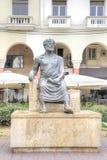 thessaloniki Scultura di Aristotele fotografie stock