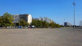 Thessaloniki sea coast stock footage