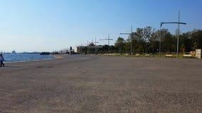 Thessaloniki sea coast stock video