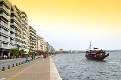 Thessaloniki seafront panoramic view Royalty Free Stock Images