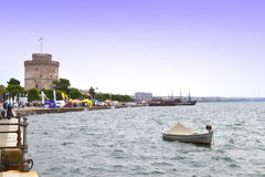 Thessaloniki seafront panoramic view Royalty Free Stock Photo