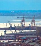 Thessaloniki shipping port. Greece Stock Photo