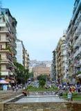 Thessaloniki sikt Grekland Arkivbilder