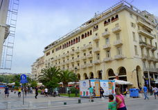 Thessaloniki square Greece Stock Images