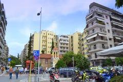 Thessaloniki street view Greece Stock Photo