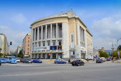 Thessaloniki theatre square view Greece Royalty Free Stock Image