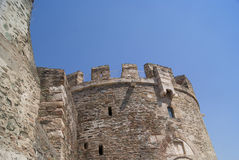 Thessaloniki tower. Corner of the tower in Thessaloniki, Greece Royalty Free Stock Photos