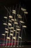 Thessaloniki Umbrellas sculpture Royalty Free Stock Photography