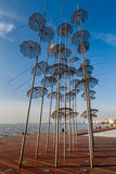 Thessaloniki umbrellas sculpture, 2014 Royalty Free Stock Photos