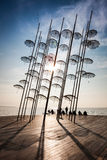 Thessaloniki umbrellas sculpture Stock Photography