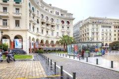 thessaloniki Via di Aristotele nel centro urbano immagini stock libere da diritti