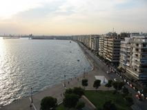 Thessaloniki. The view from the top of the White Tower is awesome. Salonic is one of my favourite cities Stock Photos