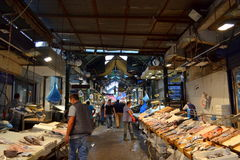 Thessaloniki vissenmarkt Griekenland Royalty-vrije Stock Fotografie