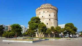 Thessaloniki vitt torn stock video