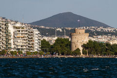 Thessaloniki. Walk on the promenade in the town of Thessaloniki stock photography