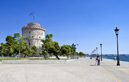 Thessaloniki waterfront, Greece. Thessaloniki, view of city's waterfront in summer. Thessaloniki is a very popular tourist destination in Greece Royalty Free Stock Photography