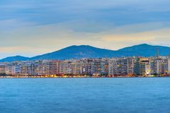 Thessaloniki waterfront skyline, Greece Royalty Free Stock Images