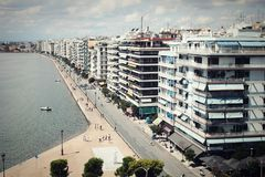 Thessaloniki from White Tower Royalty Free Stock Photo