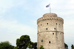 Thessaloniki white tower Royalty Free Stock Image