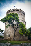 Thessaloniki white tower, Greece Royalty Free Stock Images