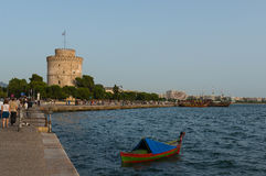 Thessaloniki white tower Royalty Free Stock Photography