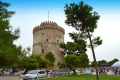 Thessaloniki Witte Toren Griekenland Stock Fotografie