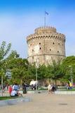Thessaloniki Witte Toren Griekenland Stock Foto's