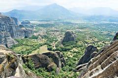 Thessaly dal, byn av Kastraki Arkivfoton