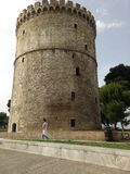Thessolonika cente the white tower Greece Stock Photo