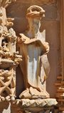 The statue - Detail of the facade in the Convent of Christ royalty free stock photos