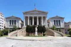 βιβλιοθήκη της Αθήνας ε&thet Στοκ φωτογραφία με δικαίωμα ελεύθερης χρήσης