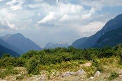Theth, montagne di Prokletije, Albania Fotografie Stock