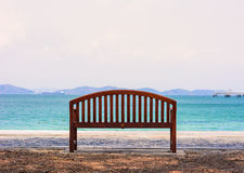 TheThe chair by the ocean. Royalty Free Stock Image