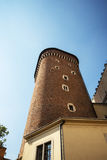 TheTower of the Royal Wawel Castle  and Cathedral in Krakow Poland Royalty Free Stock Photo