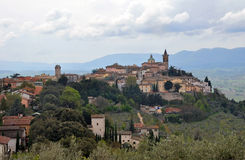 TheTown of Trevi, Umbria Italy Stock Photo
