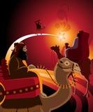 Thetravel de tres reyes Imagen de archivo libre de regalías