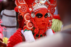 Theyyam一种精通仪礼的人的民间艺术 库存照片