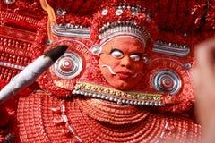 Theyyam一种精通仪礼的人的民间艺术 库存图片