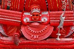 Theyyam艺术家 免版税库存图片
