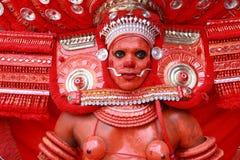 Theyyam艺术家 免版税库存照片