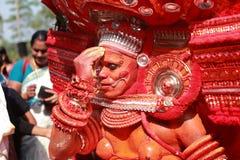 Theyyam艺术家 图库摄影