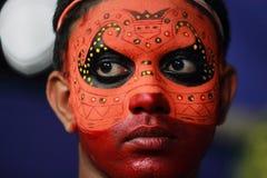 Theyyam artist Royalty Free Stock Photography