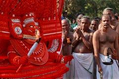 Theyyam artysta Obraz Royalty Free