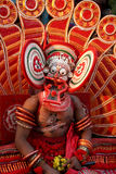 Theyyam dance. A Theyyam dance performer.Theyyam  is a unique artform of north Kerala in India Stock Photography